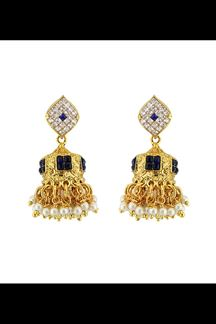 Picture of Classic American diamond long earrings