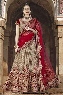 Picture of Stunning deep red & gold lehenga choli