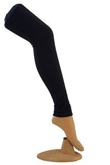 Picture of Sensational black color cotton leggings