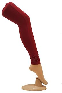 Picture of Stylish dark red cotton leggings