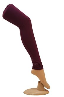 Picture of Striking wine color cotton leggings