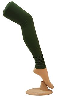 Picture of Dazzling green color cotton leggings