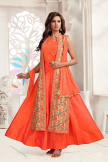 Picture of Sizzling orange designer suit with jacket