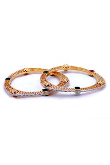 Picture of Multicolor stone worked designer bangle