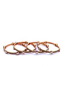 Picture of Distinctive gold plated designer bangles