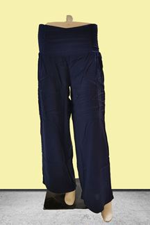 Picture of Quirky navy blue palazzo with smocking