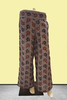 Picture of Peacock printed grey designer palazzos