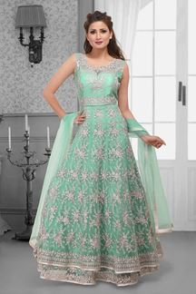 Picture of Heavenly sea green designer long suit