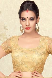 Picture of Fancy gold designer blouse with cording