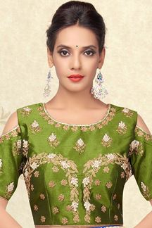 Picture of Heavenly green cold shouldered blouse