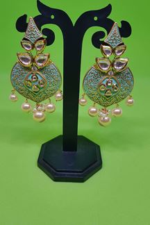 Picture of Beautiful Classic JADAU Fashion traditional look long earring