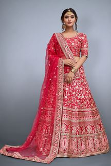Picture of Gorgeous Pink Designer Lehenga Set