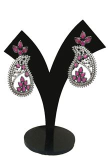 Picture of Beautiful pink colored earrings