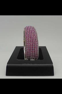 Picture of Stone studded pink stylish bracelet