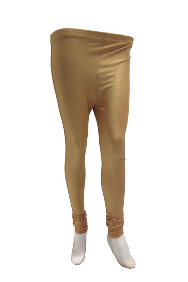 Golden Color Shimmer Leggings