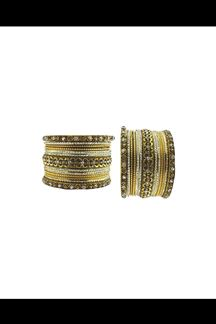 Picture of Classy bangle set done in gold & silver