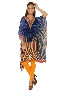 Picture of Incredible printed kaftan in shades of blue