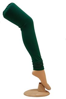 Picture of Vivacious green color cotton leggings