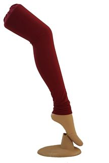 Picture of Attractive maroon cotton leggings