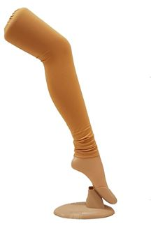 Picture of Creative beige color cotton leggings