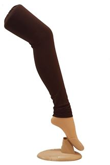 Picture of Fashionable wear brown colored leggings