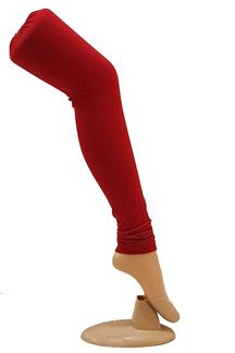 Picture of Mesmerising red color cotton leggings