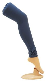 Picture of Glamorous wear dull blue cotton leggings