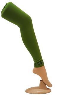 Picture of Amazing green color cotton leggings