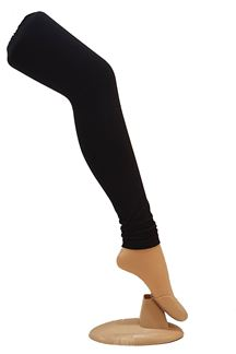 Picture of Exclusively black color cotton leggings