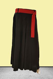 Picture of Sporty black designer plain palazzo