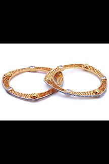 Picture of Sensational gold plated designer bangles