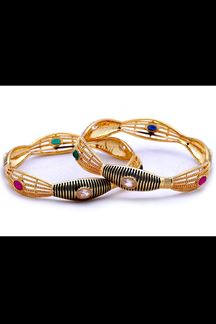 Picture of Multicolor stone studded designer bangle