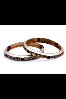 Picture of Black stone & paint work designer bangle