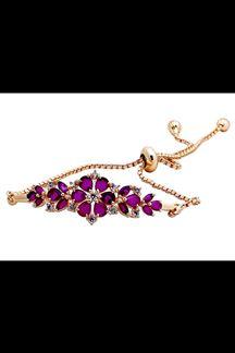 Picture of Regal violet stone studded bracelet