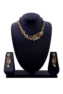 Picture of Flashy red & green designer necklace set