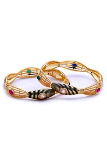 Picture of Multicolor stone studded designer bangle