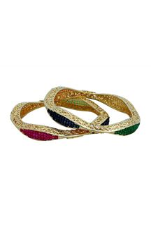 Picture of Relishing multicolor stone bangle set