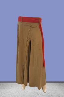 Picture of Regal khakhi color designer palazzo pant