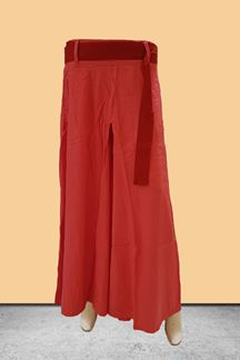 Picture of Graceful peach designer plain palazzos