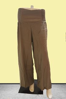 Picture of Regal olive palazzo pants with smocking