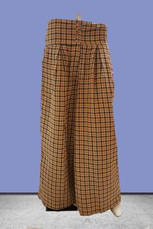 Picture of Regal beige checkered printed palazzos