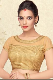 Picture of Gorgeous gold sheer designer blouse