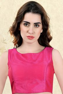 Picture of Peculiar pink designer plain blouse