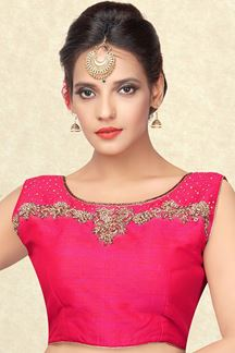 Picture of Classic pink designer blouse with stones