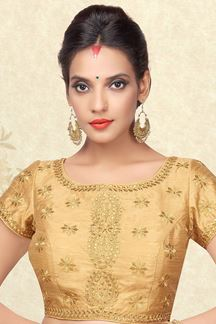 Picture of Fabulous gold designer blouse with zari