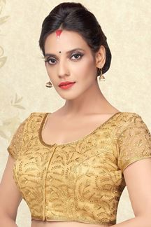 Picture of Majestic gold designer blouse with zari