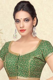 Picture of Sensational green designer blouse