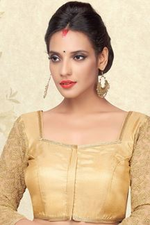 Picture of Appealing gold designer plain blouse