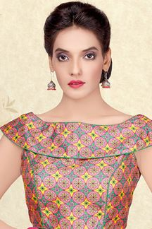 Picture of Fancy multicolor printed designer blouse