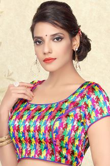 Picture of Trendy multicolor designer blouse